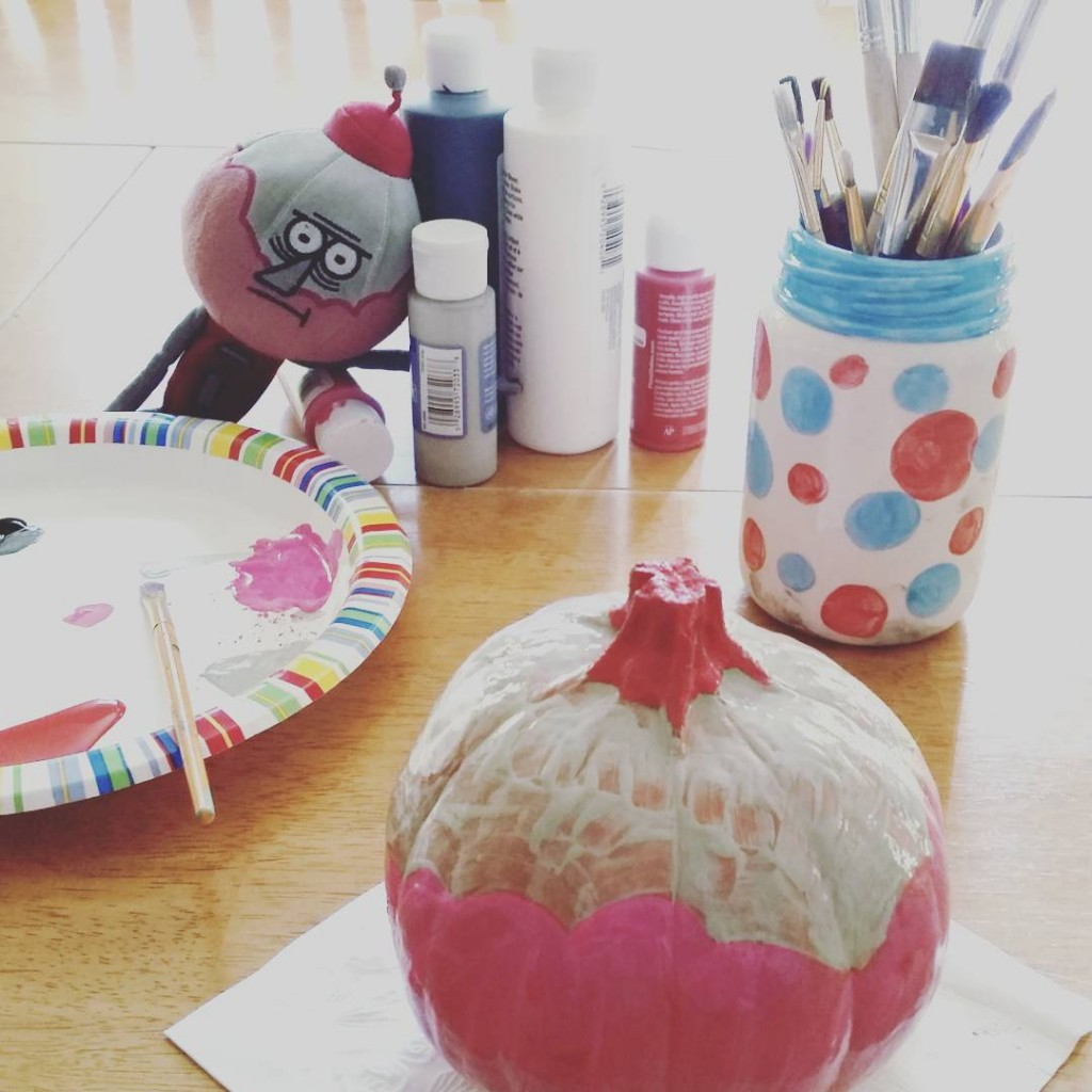 Guess who the inspiration is for this tiny painted pumpkin?hellip
