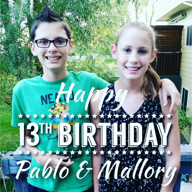 Today is Pablo and Mallorys 13th birthday! Theyve brought ourhellip