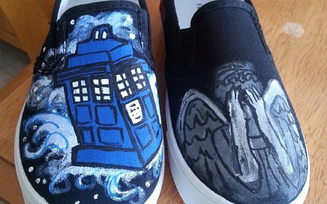 Doctor Who Custom Hand-Painted Shoes!