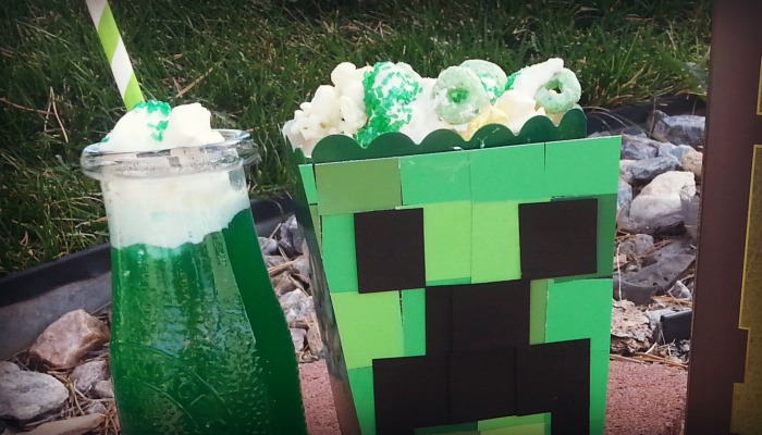 Minecraft Creeper Popcorn Box