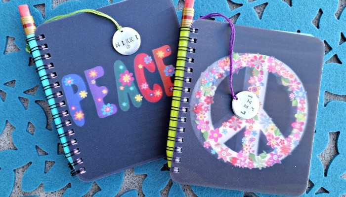 Personalized Journals with Stamped Metal Tags