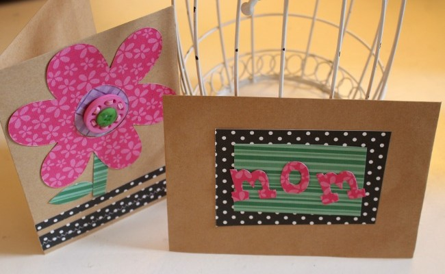 DIY Mother's Day Card with Buttons