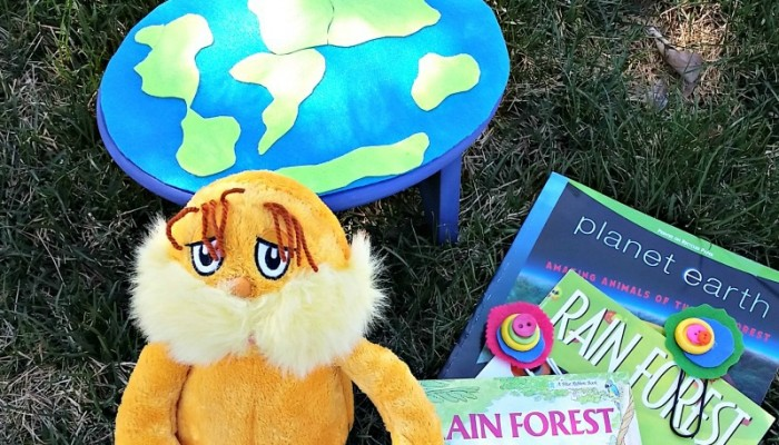 DIY Earth Day Reading Stool