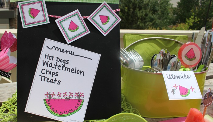 Watermelon Party Printable Fun from Laura Kelly