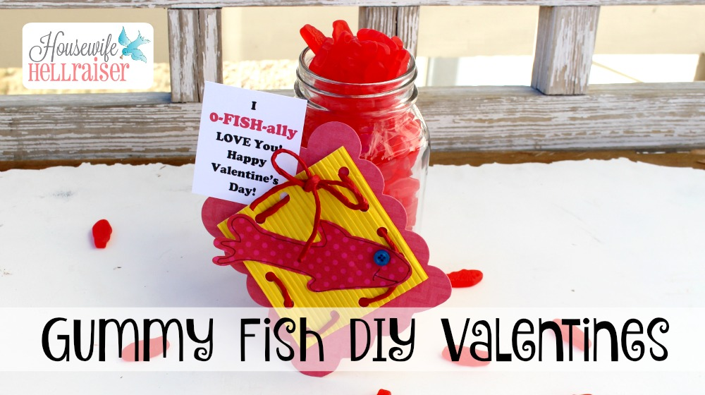 DIY Gummy Fish Valentines with Free Printable