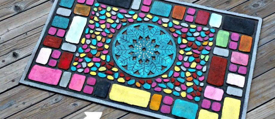 DIY Painted Door Mat